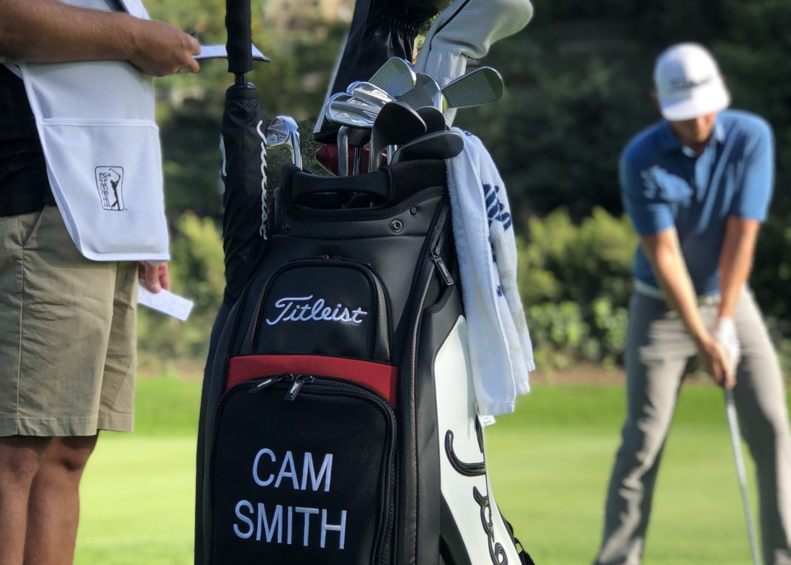 Cam Smith golfer & Caddy
