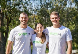 winkfit fitness gym trainers outside